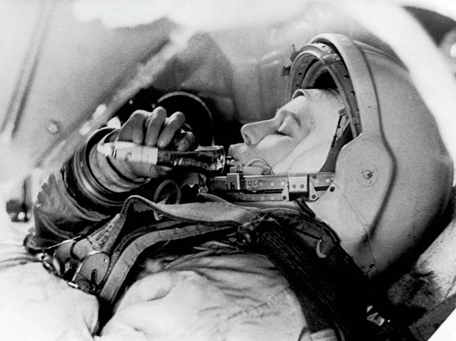 Here's another shot of Valentina Tereshkova training in June 1963. Photo: Gamma-Keystone Via Getty Images