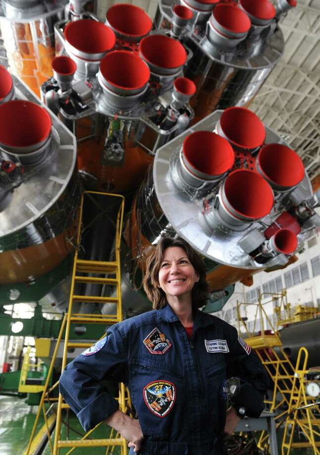 Astronaut Cady Coleman has logged more than 4,330 hours in space aboard the Space Shuttle Columbia and the International Space Station, which she reached in 2010 aboard a Russian Soyuz TMA-20 rocket. Photo: DMITRY KOSTYUKOV, AFP/Getty Images / 2010 AFP
