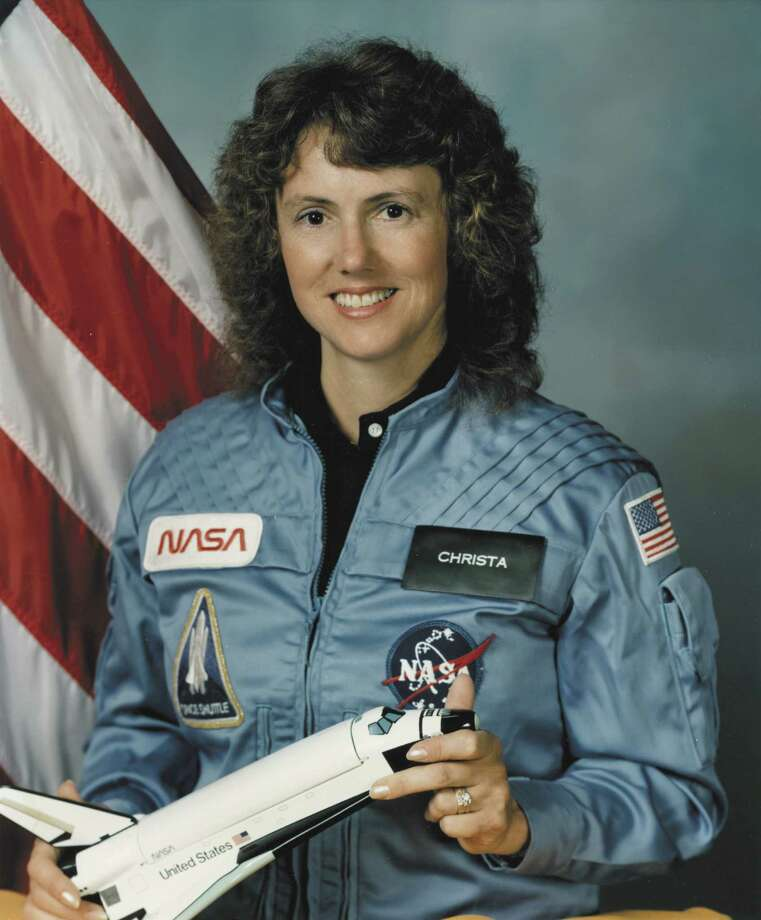 Teacher Christa McAuliffe was chosen to be the first private citizen in space. But she died with her six fellow crew members when space shuttle Challenger exploded during launch in 1986. Photo: Encyclopaedia Britannica, UIG Via Getty Images / Universal Images Group Editorial