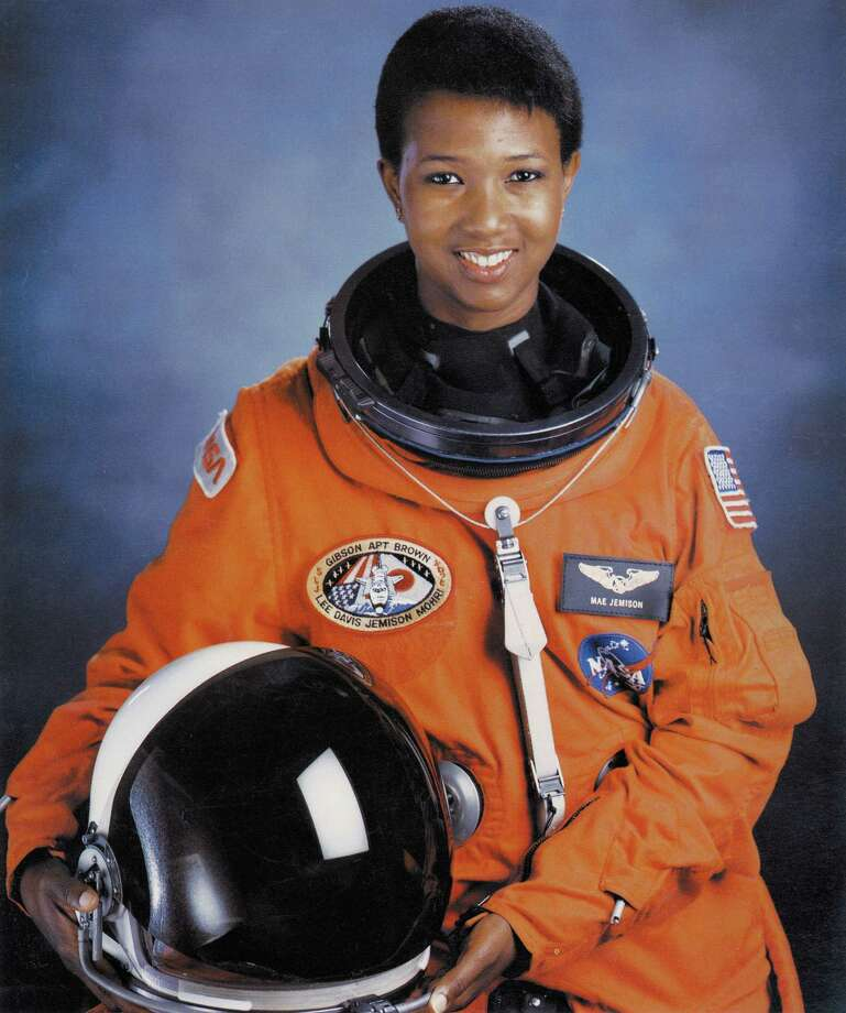 The first black woman in space was Mae Jemison, who was a member of space shuttle Eandeavour's crew in September 1992. Photo: Science & Society Picture Librar, SSPL Via Getty Images / These images are for viewing purposes only. Their copyright belongs to the photographer . Their delivery does not constitute a right to use. Reproduction rights must be ordered, or permission obtained in writing, if ANY use at all is made of any of these images. Precise reproduction rights and relevant fees for each usage must be agreed before any use is made of the pictures.   RIGHTS TO STORE, TRANSMIT OR REPRODUCE THESE IMAGES IN ANY FORM (ELECTRONIC OR OTHERWISE), OR TO MAKE DUPLICATES, MUST BE NEGOTIATED SEPARATELY.