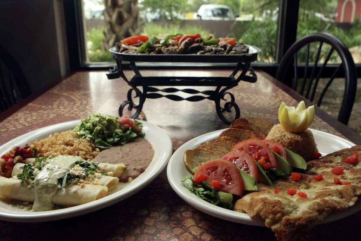 Shrimp enchiladas are a popular menu item.