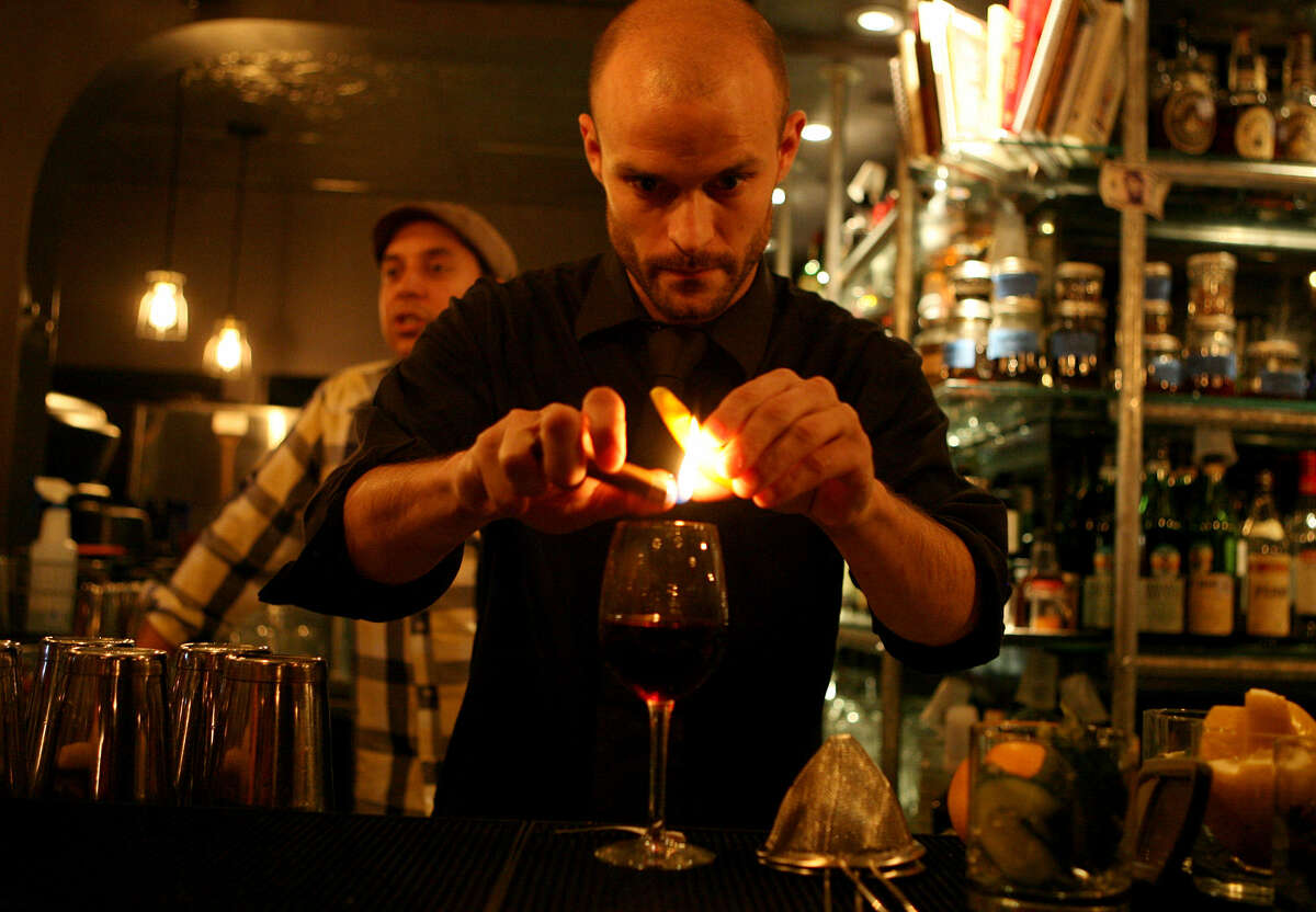 """Robert Gourlay makes """"La Bruja"""" at The Brooklynite, which was the Critics' Choice for best place for a cocktail."""