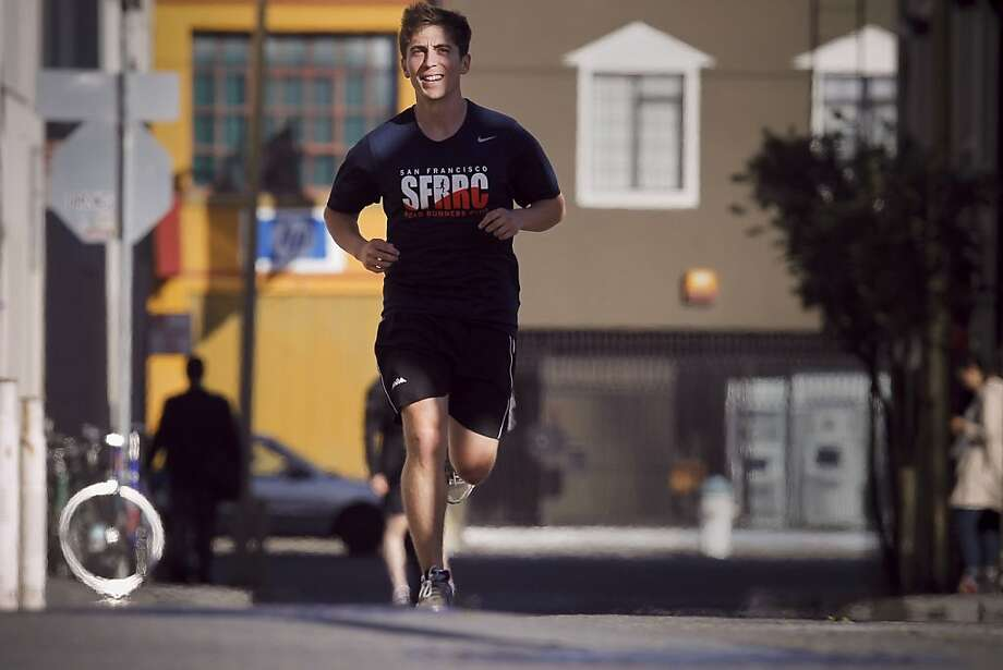 Sam Pollock,  in San Francisco, Calif. on Wed. June 12, 2013, is preparing for this weekend's San Francisco Marathon. Boston will be on the minds of many people running this Sunday's San Francisco Marathon. Among those runners is Sam Pollock, a UCSF grad student and a member of the San Francisco Road Runners Club who will be doing his second marathon. Photo: Michael Macor, The Chronicle