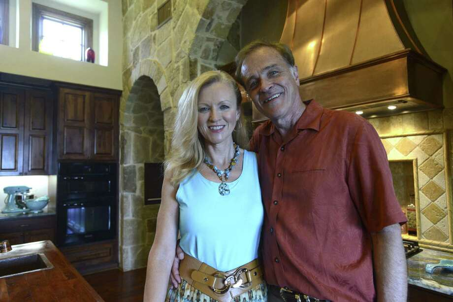 Sandi and Fred Goldner in their kitchen.