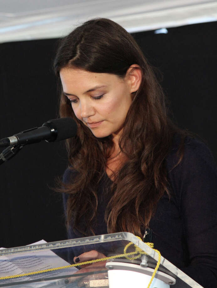 Actress Katie Holmes delivers the keynote speech at the annual Rose of Hope Luncheon for the Norma F. Pfriem Breast Care Center, in Fairfield, Conn., June 13th, 2013. Photo: Contributed Photo / Connecticut Post Contributed