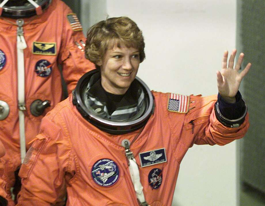 Eileen Collins went on to become the first woman to command a shuttle mission, Columbia's flight in July 1999. Photo: TONY RANZE, AFP/Getty Images / AFP
