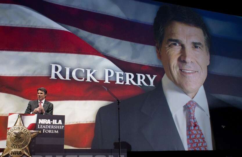 Gov. Rick Perry speaks during the NRA-ILA Leadership Forum at the National Rifle Association's 142 A