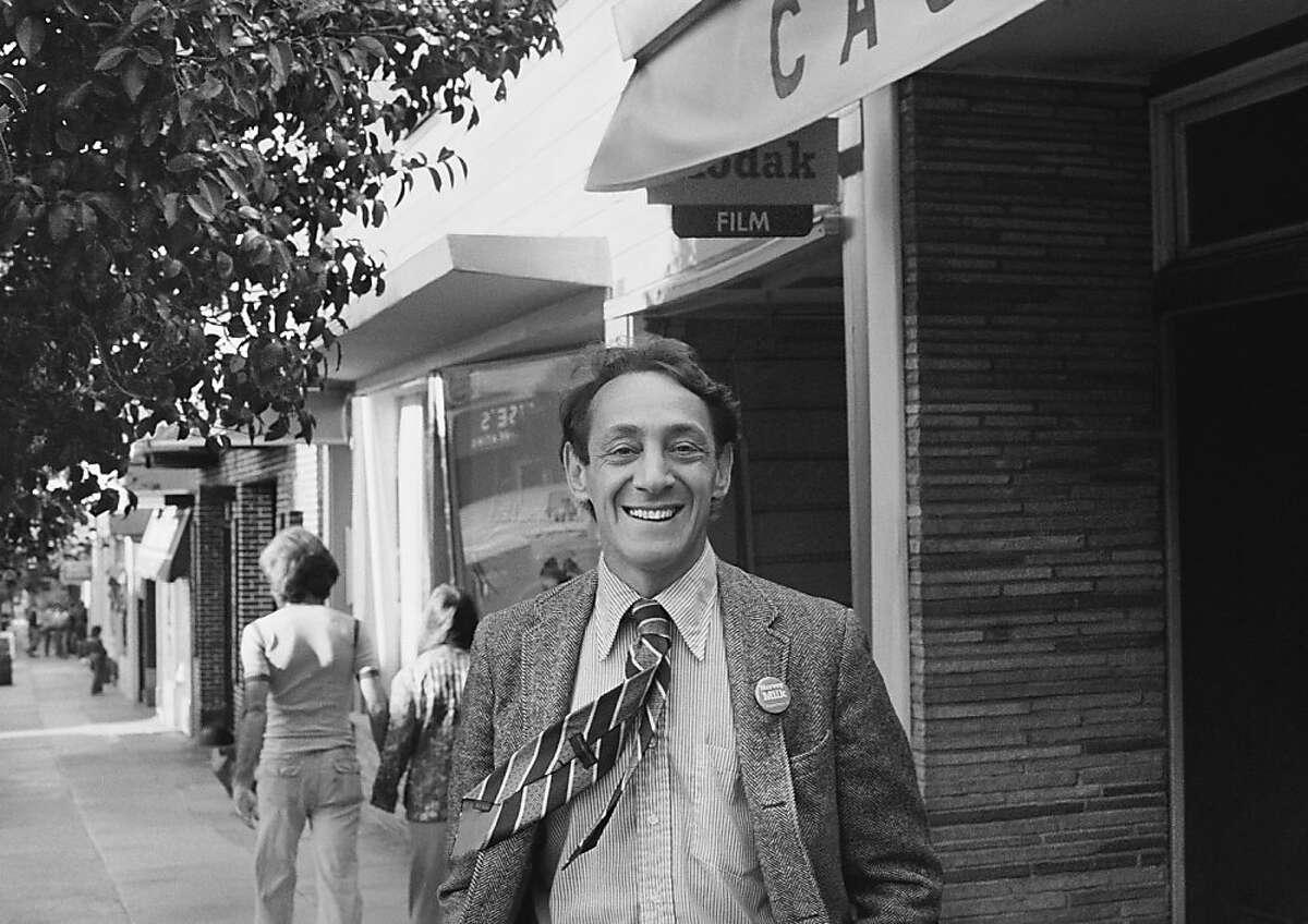 Harvey Milk In front of his Castro Street Camera Store, 1977, photo by Daniel Nicoletta Harvey Milk In front of his Castro Street Camera Store, 1977