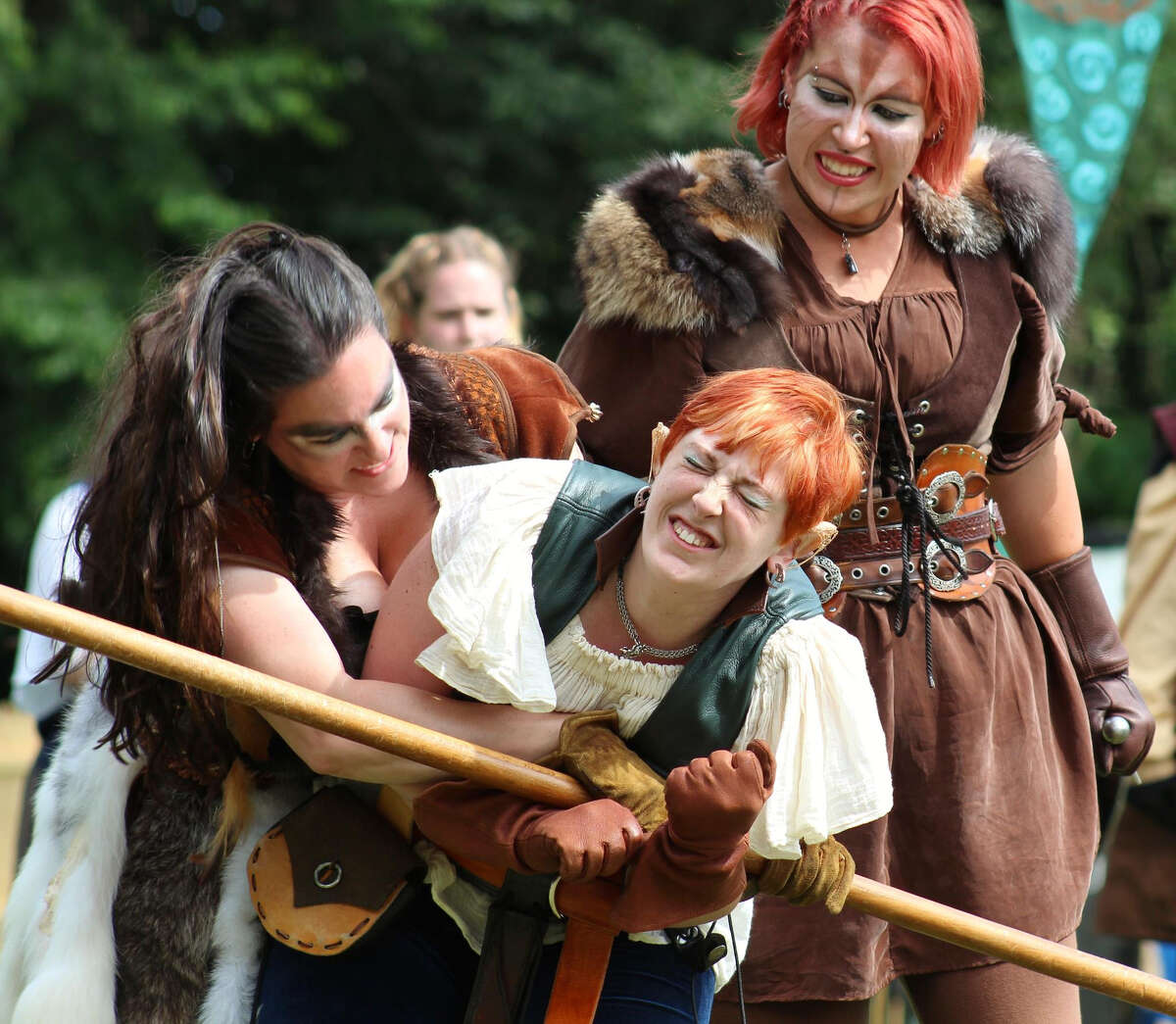 It's a battle between clans at the Midsummer Fantasy Renaissance Faire in Ansonia, weekends from June 22 through July 7.