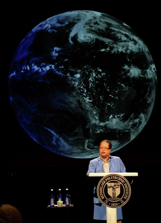 RPI president Shirley Ann Jackson addresses a gathering to announce new research initiatives Thursday June 13, 2013 at the EMPAC on the RPI campus in Troy, N.Y.     (Skip Dickstein/Times Union) Photo: SKIP DICKSTEIN / 00022800A