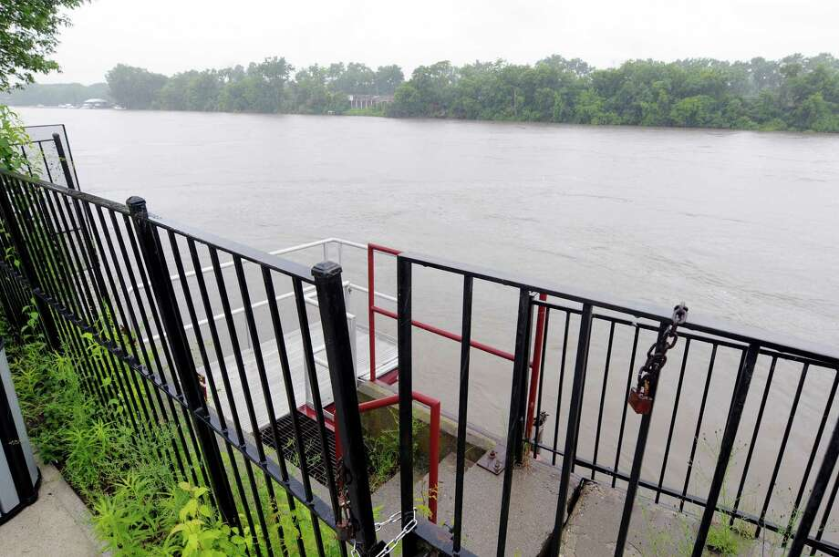A view of an area along the Hudson River at the Troy waterfront south of the Green Island Bridge on Thursday, June 13, 2013 in Troy, NY.  The city council will vote on plans for re-vitalizing the docks in this area that were damaged by Tropical Storm Irene.   (Paul Buckowski / Times Union) Photo: Paul Buckowski