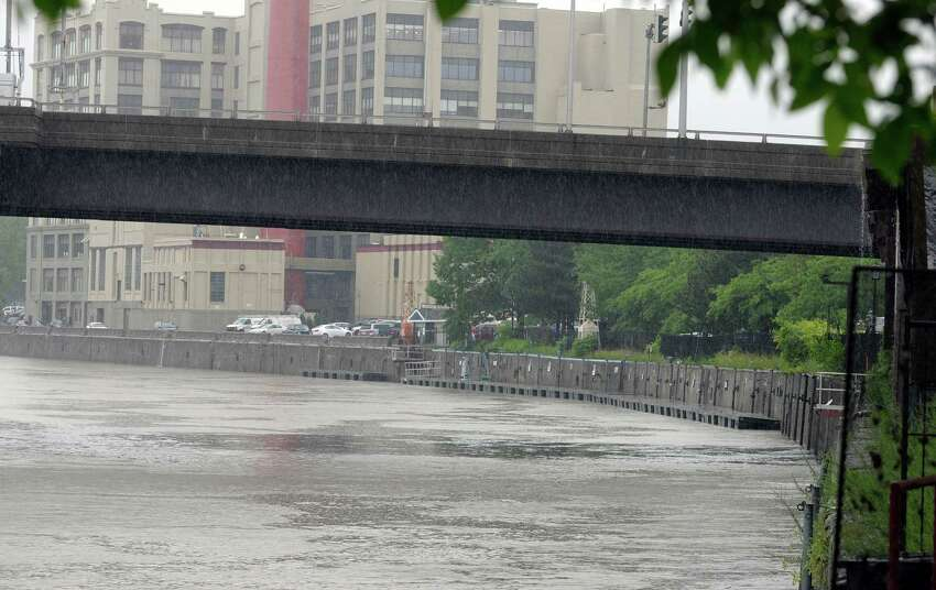 A view of an area along the Hudson River at the Troy waterfront north of the Green Island Bridge on Thursday, June 13, 2013 in Troy, NY. The city council will vote on plans for re-vitalizing the docks in this area that were damaged by Tropical Storm Irene. (Paul Buckowski / Times Union)