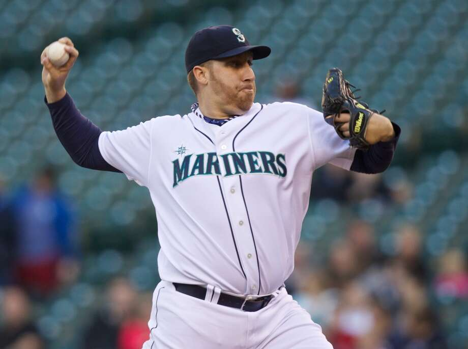June 11: Mariners 4, Astros 0Mariners pitcher Aaron Harang shutout the Astros while surrendering only two hits as Seattle took the second straight game of the series.  Record: 22-44. Photo: Stephen Brashear, Getty Images