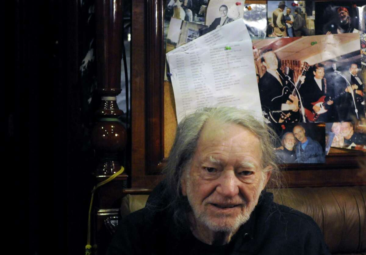 Country music legend Willie Nelson during a stop to promote the announcement of Farm Aid concert at SPAC in September on Thursday June 13, 2013 in Colonie, N.Y. (Michael P. Farrell/Times Union)