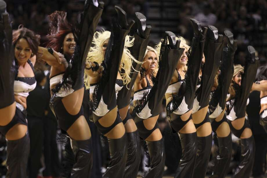 The Spurs' Silver Dancers perform during the first half of Game 4 of the NBA Finals at the AT&T Center on Thursday, June 13, 2013. (Kin Man Hui/San Antonio Express-News)