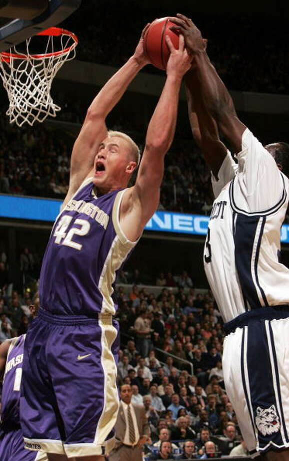 Mike Jensen, forwardPlayed for UW: 2001-06  Now with: No team.  Photo: Win McNamee, Getty Images / 2006 Getty Images