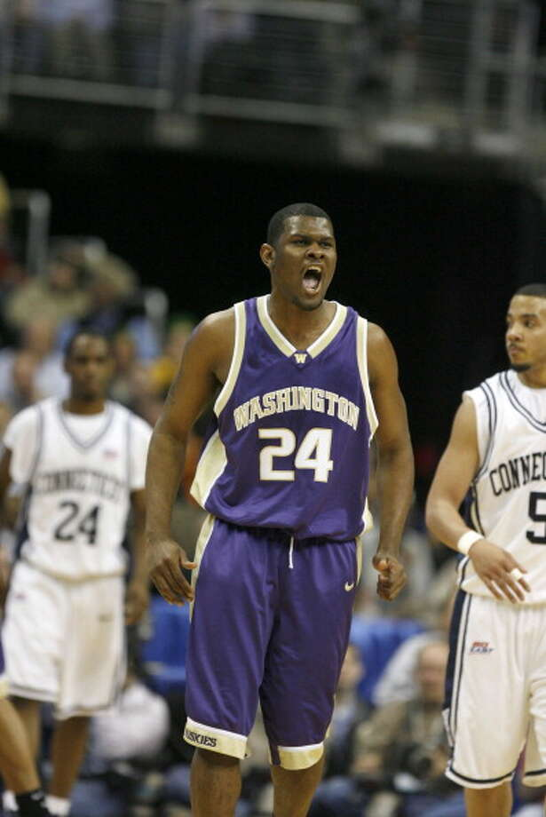 Jamaal Williams, forward  Played for UW: 2004-06  Now plays for: Plymouth Raiders (British Basketball League)  Photo: Sporting News Archive, Sporting News Via Getty Images / Sporting News
