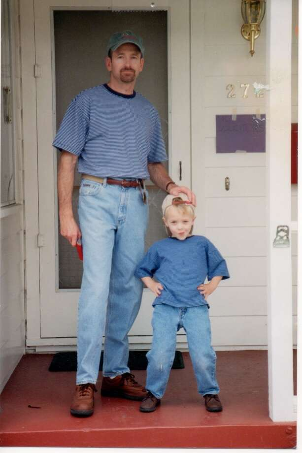 Some fathers and sons wear blue shirts. Photo: Duke-mcgonegle