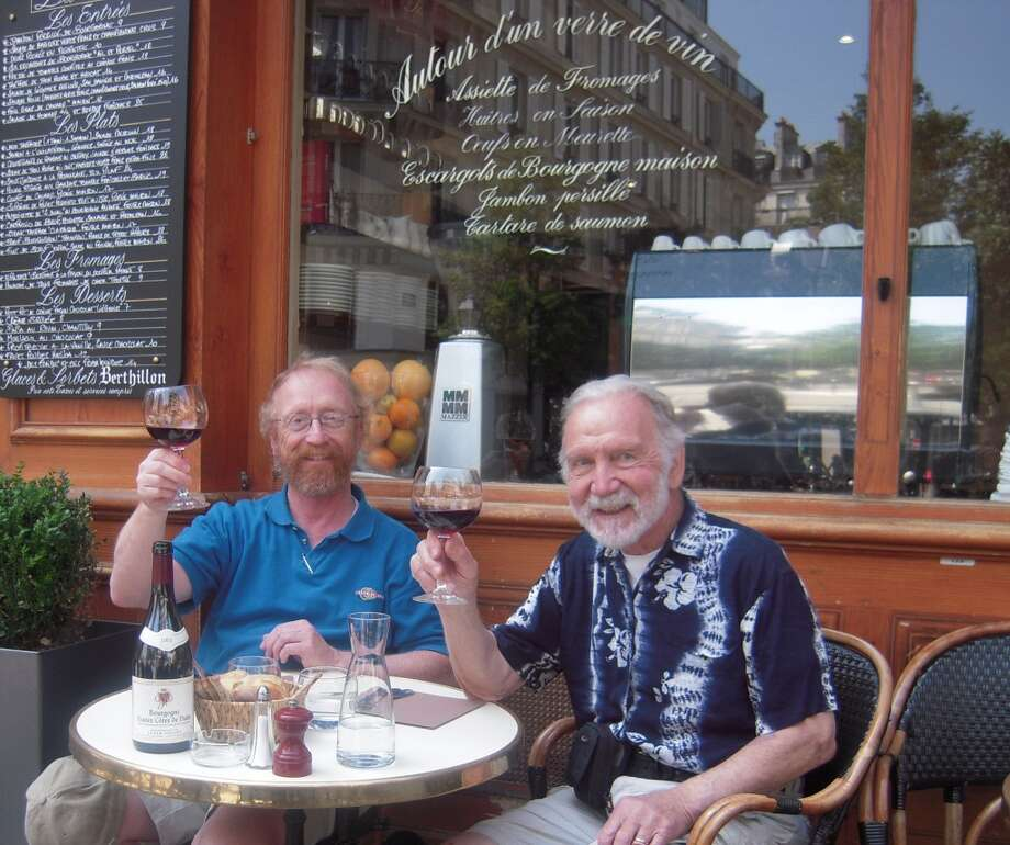Some fathers and sons drink wine together in Paris. Photo: Rodger-lindquist