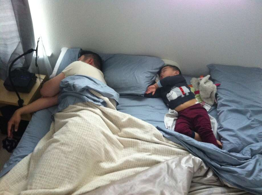 All dads enjoy napping with their sons. Photo: Nancy-hom