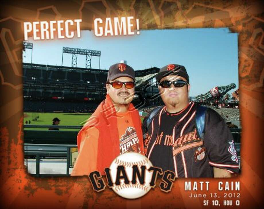 This son bought his dad first row arcade seats to a Giants game—and it was a perfect game.