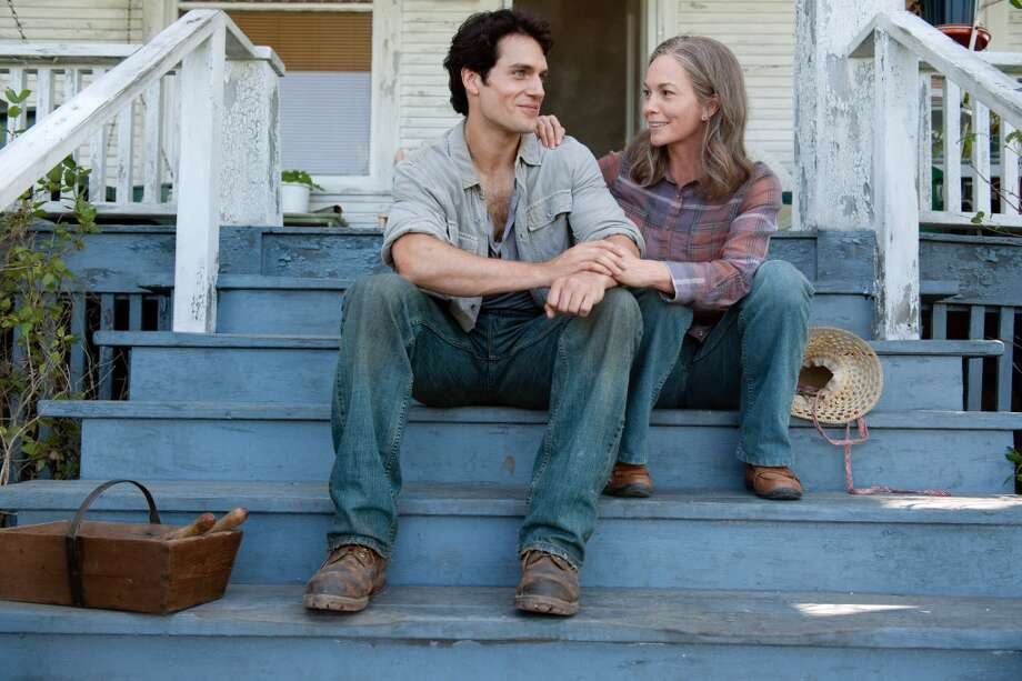 "HENRY CAVILL as Clark Kent and DIANE LANE as Martha Kent in Warner Bros. Pictures' and Legendary Pictures' action adventure ""Man of Steel."""
