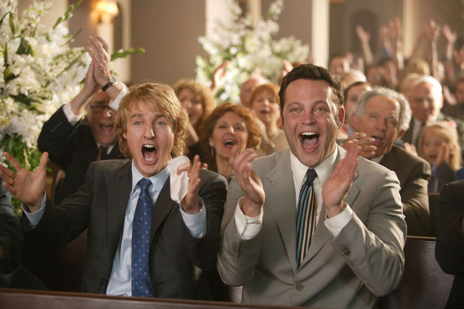 'Wedding Crashers,' 2005. This is one you can watch with your fiance, and he won't mind a bit. A pair of divorce mediators spend their weekends crashing weddings in a search of Ms. Right.  Photo: RICHARD CARTWRIGHT / NEW LINE CINEMA