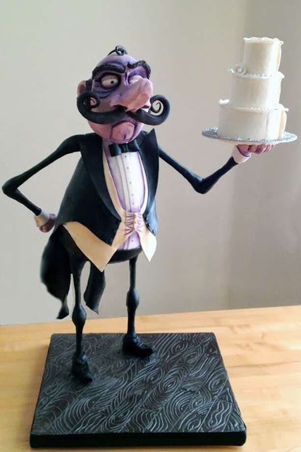 Higgins the butler cake with chocolate and fondant details by Beyond Buttercream. Photo: Picasa