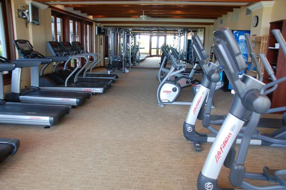 If it gets too hot to work out outdoors, the air-conditioned, light-filled up-to-date fitness room is an alternative.