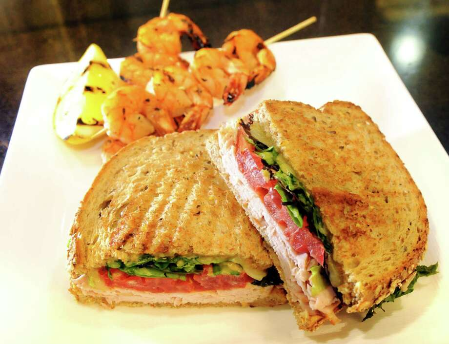 Healthy Living Market and Cafe, 3065 Route 50 (Wilton Mall), Saratoga Springs, NY, 518-306-4900. Visit Web site. Read our review. Coriander-lime marinated shrimp skewers and smokey Southwest turkey sandwich with lettuce, tomato and chipotle mayo at Healthy Living Market and Cafe on Friday, June 7, 2013. (Cindy Schultz / Times Union) Photo: Cindy Schultz / 00022739A