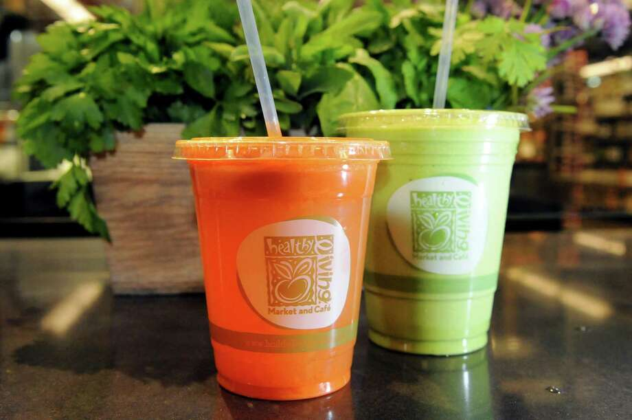Healthy Living Market and Cafe, 3065 Route 50 (Wilton Mall), Saratoga Springs, NY, 518-306-4900. Visit Web site. Read our review. Carrot smoothie, left, and pineapple, mango and spinach smoothie at Healthy Living Market and Cafe on Friday, June 7, 2013. (Cindy Schultz / Times Union) Photo: Cindy Schultz / 00022739A