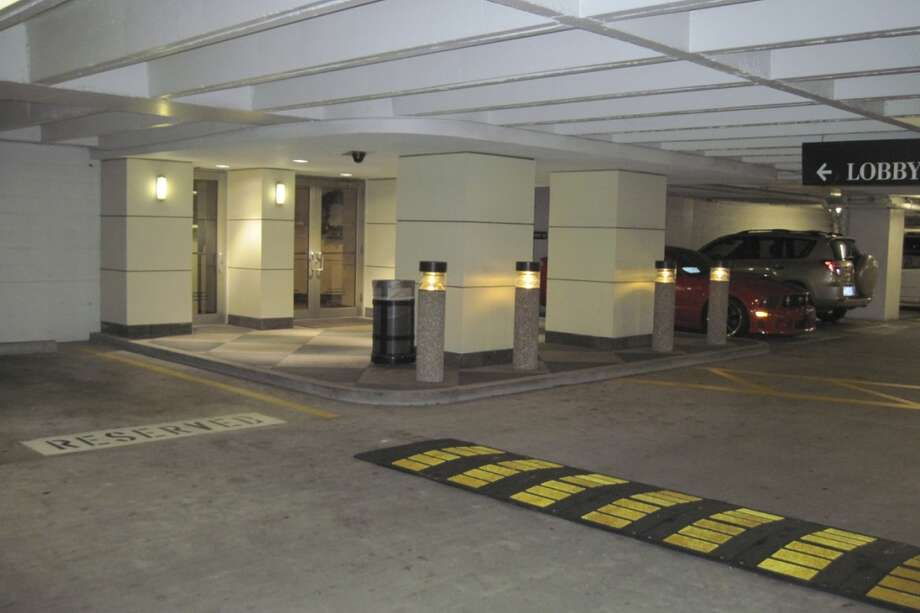 BEFORE: Garage entrance of 515 Post Oak