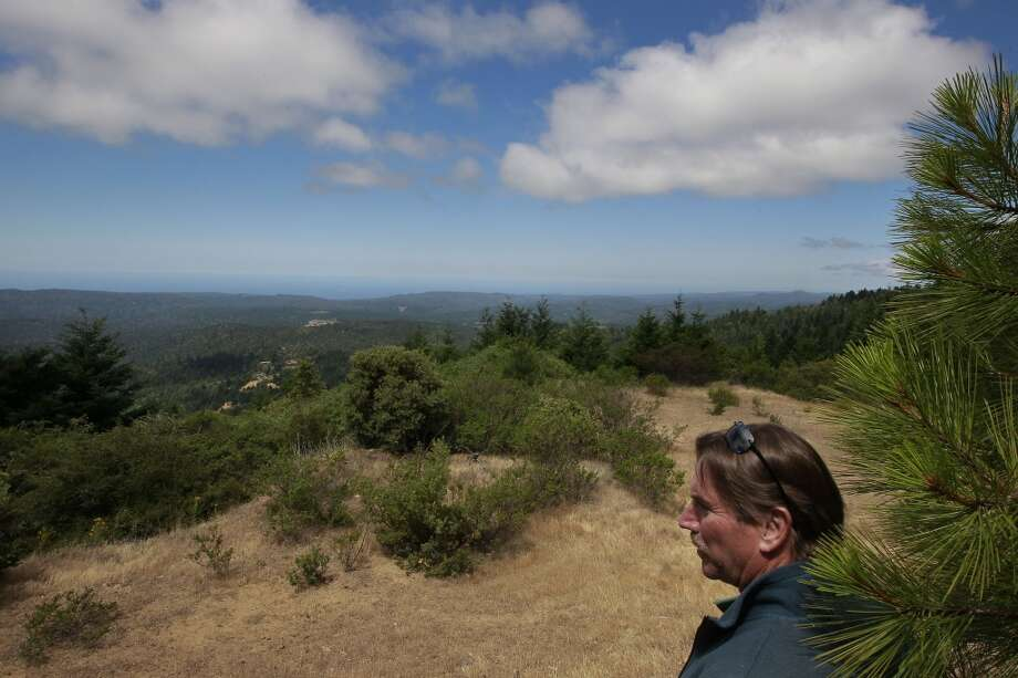 Chris Kelly, the California Director for the The Conservation Fund on a ridge top above the Preservation Ranch property on Tues. June 11, 2013 near Annapolis, Calif.  A public-private partnership led by The Conservation Fund has purchased 16,645 acres of forest known as Preservation Ranch, the largest conservation project in the history of Sonoma County.