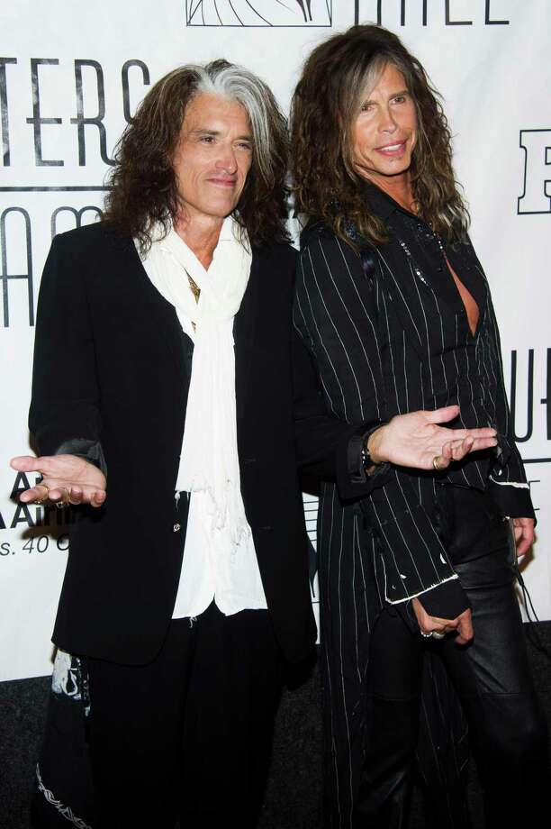 Inductees Joe Perry, left, and Steven Tyler attend the Songwriters Hall of Fame 44th annual induction and awards gala on Thursday, June 13, 2013 in New York. Photo: Charles Sykes, Charles Sykes/Invision/AP / Invision