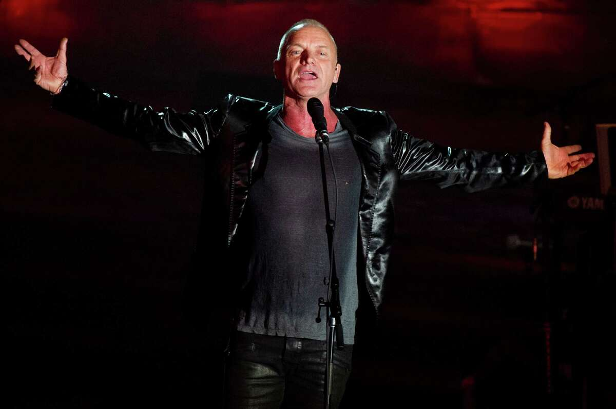 Sting performs at the Songwriters Hall of Fame 44th annual induction and awards gala on Thursday, June 13, 2013 in New York.