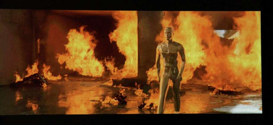 Here's what happens when you try to incinerate a liquid-metal Terminator. Photo: Jean-Paul Aussenard, WireImage / WireImage