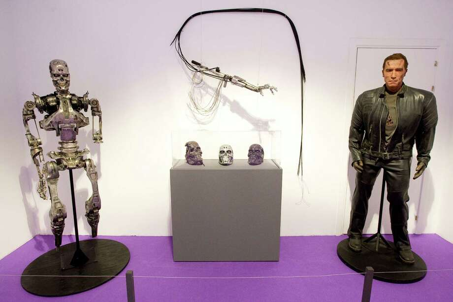 "Models and reproductions used in the ""Terminator"" movies are displayed on the exhibition ""Fantastic SyFy Objects"" at the Royal Tapestry Factory on February 25, 2011 in Madrid, Spain. Photo: Eduardo Parra, Getty Images / 2011 Eduardo Parra"