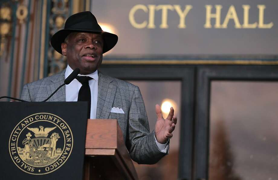 Former San Francisco mayor Willie Brown was one of the speakers at the 34th annual remembrance and candlelight march for mayor George Moscone and supervisor Harvey Milk ceremony at San Francisco City Hall Tuesday Nov. 27, 2012. Photo: Lance Iversen, The Chronicle