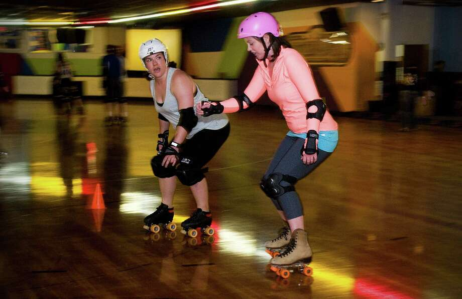 Maggie Gordon goes to Roller Derby boot camp in Waterbury, Conn. on Tuesday June 11, 2013. Photo: Dru Nadler / Stamford Advocate Freelance