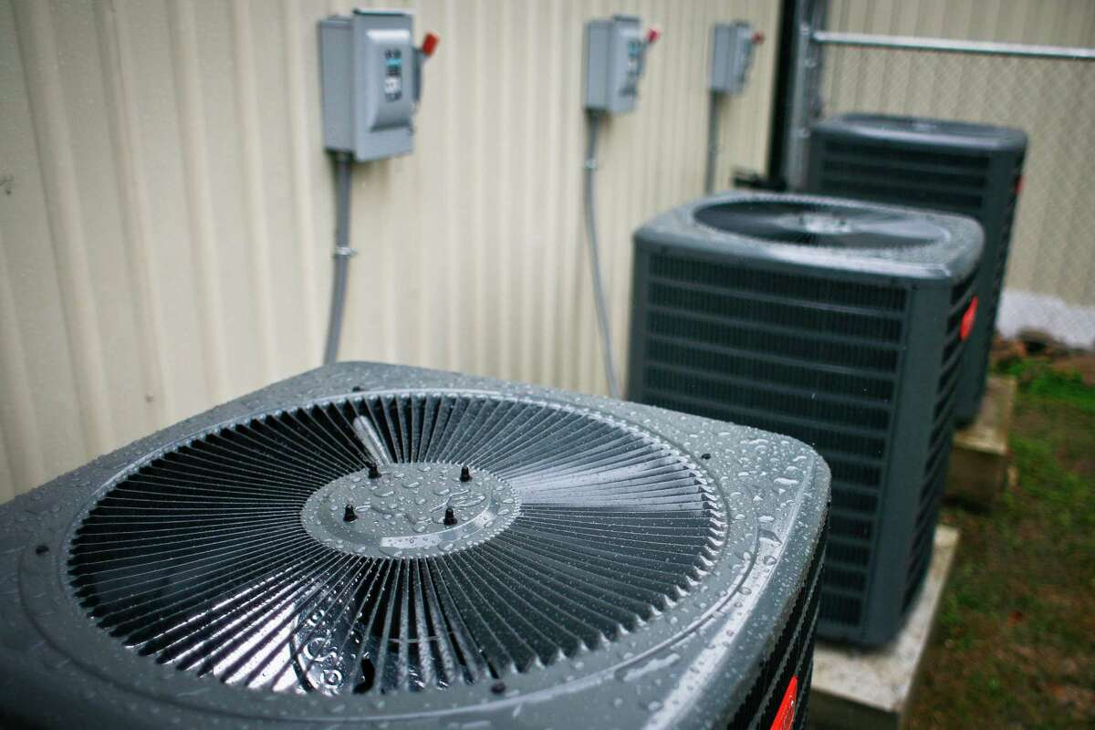 Air conditioners, a common sight around Houston.