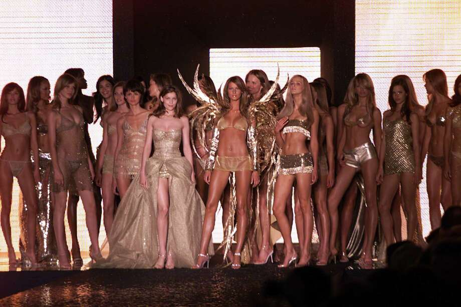 2000: Models on the runway at the Victoria's Secret fashion show benefit for amfAR, Cinema Against Aids 2000 at the Cannes Film Festival. Photo: Frank Micelotta, Getty Images / Getty Images North America