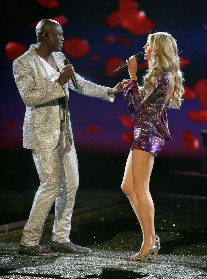 2007:  Singer Seal and Model Heidi Klum at the 12th Annual Victorias Secret Fashion Show at The Kodak Theatre on November 15, 2007 in Hollywood, California.  (Photo by Steve Granitz/WireImage) Photo: Steve Granitz, Getty Images / WireImage