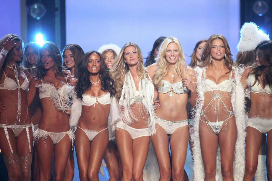 2006: Ana Beatriz Barros, Alessandra Ambrosio, Selita Ebanks, Gisele Bundchen and Adriana Lima wearing Swarovski embellished garments by Victoria's Secret (Photo by John Shearer/WireImage) Photo: John Shearer, Getty Images / WireImage