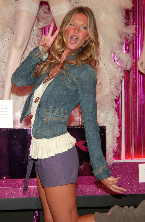 "2005: Gisele Bundchen during Gisele Bundchen Unveils The Victoria's Secret Fashion Show Exhibit: ""Ten Years of Sexy"" at Victoria's Secret - Herald Square in New York City, New York, United States. (Photo by Michael Loccisano/FilmMagic) Photo: Michael Loccisano, Getty Images / FilmMagic"
