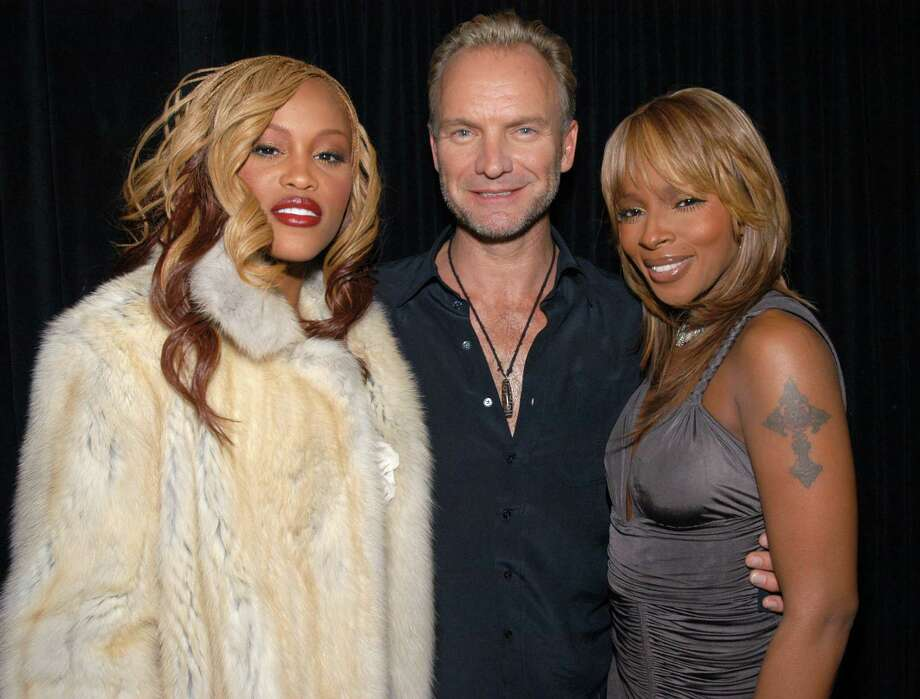 2003: Eve, Sting and Mary J. Blige (Photo by KMazur/WireImage for Full Picture) Photo: KMazur, Getty Images / WireImage