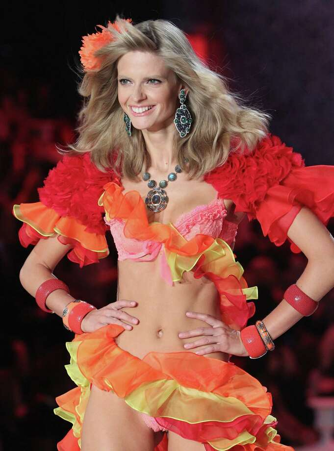 2011: Julia Stegner walks the runway during the 2011 Victoria's Secret Fashion Show at the Lexington Avenue Armory on November 9, 2011 in New York City.  (Photo by Kevin Kane/FilmMagic) Photo: Kevin Kane, Getty Images / 2011 Kevin Kane