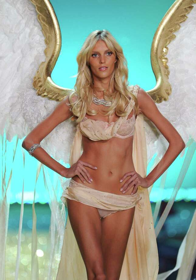 2010: Anja Rubik walks the runway during the 2010 Victoria's Secret Fashion Show at the Lexington Avenue Armory on November 10, 2010 in New York City. Photo: Dimitrios Kambouris, Getty Images / 2010 WireImage