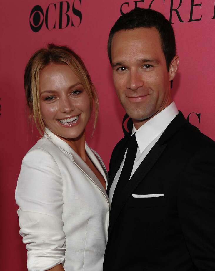 2008: Becky Newton and Chris Diamantopoulos arrives to the 2008 Victoria's Secret Fashion Show at the Fontainebleau Hotel on November 15, 2008 in Miami Beach, Florida.  (Photo by Dimitrios Kambouris/WireImage) Photo: Dimitrios Kambouris, Getty Images / WireImage
