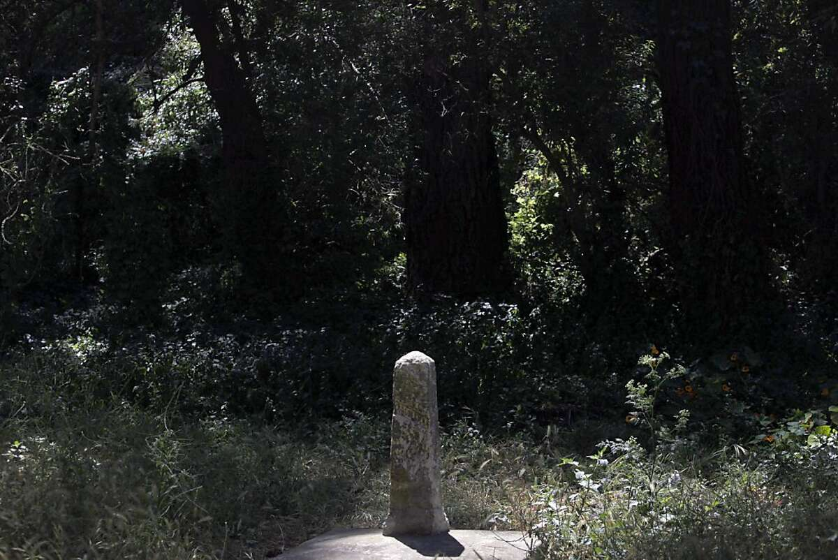 Two granite markers stand at the site of the Broderick-Terry duel in 1859. On Sept. 13, 1859, the chief justice of the California Supreme Court, David S. Terry, shot and mortally wounded U.S. Senator David S. Broderick.