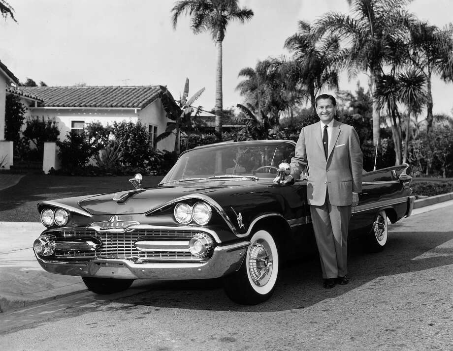 1959: Lawrence Welk and his custom-built Dodge Royale convertible with a special D-500 engine Photo: Hulton Archive, Getty Images / Archive Photos
